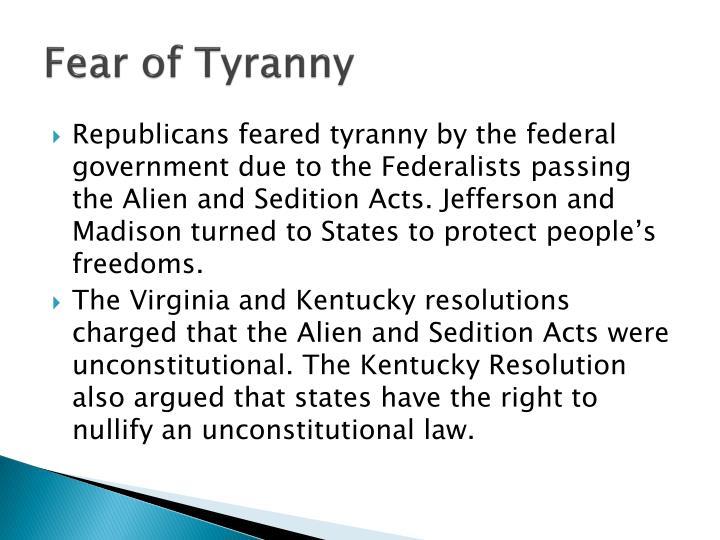 Fear of Tyranny