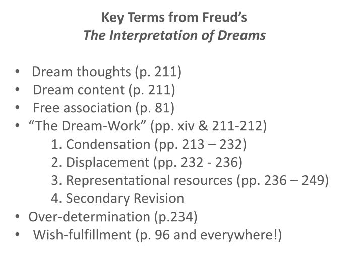 dream work freud
