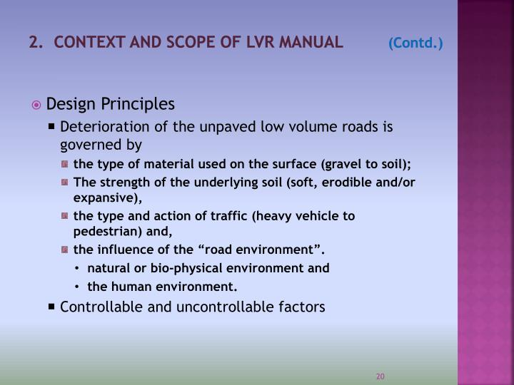 2.  CONTEXT AND SCOPE OF