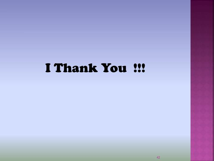 I Thank You  !!!