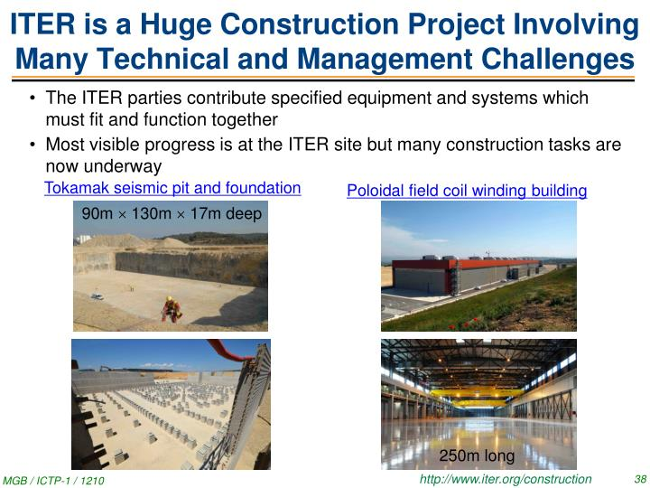 ITER is a Huge Construction Project Involving Many Technical and Management Challenges