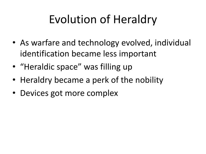 Evolution of Heraldry