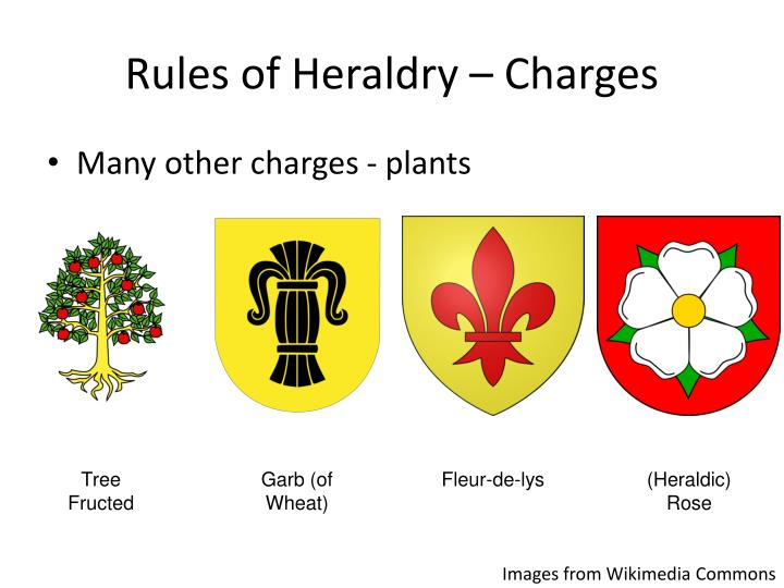 Rules of Heraldry – Charges
