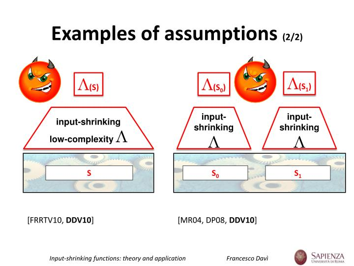 Examples of assumptions