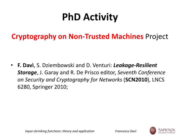 Phd activity