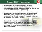 groupe m 1 exemples1