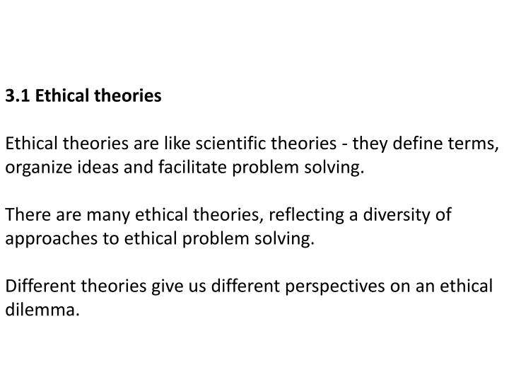3.1 Ethical theories