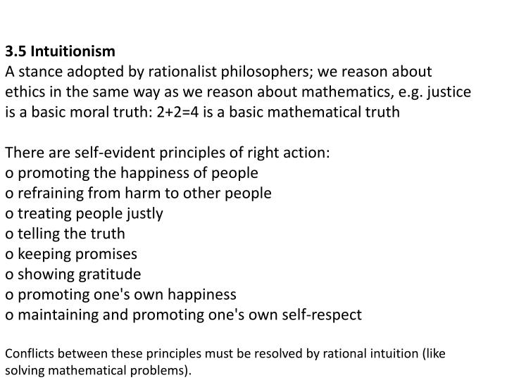3.5 Intuitionism