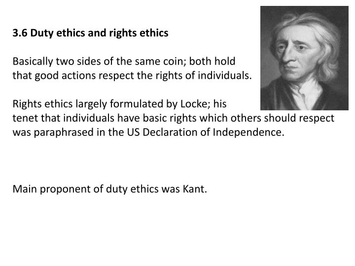 3.6 Duty ethics and rights ethics
