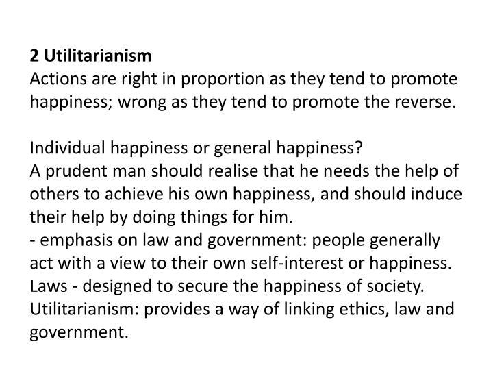 2 Utilitarianism