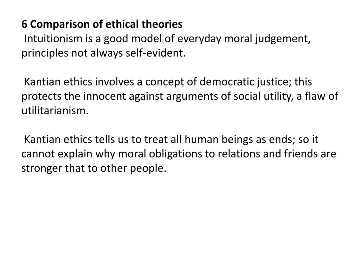 6 Comparison of ethical theories