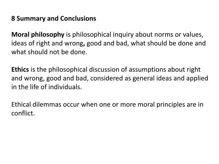 8 Summary and Conclusions
