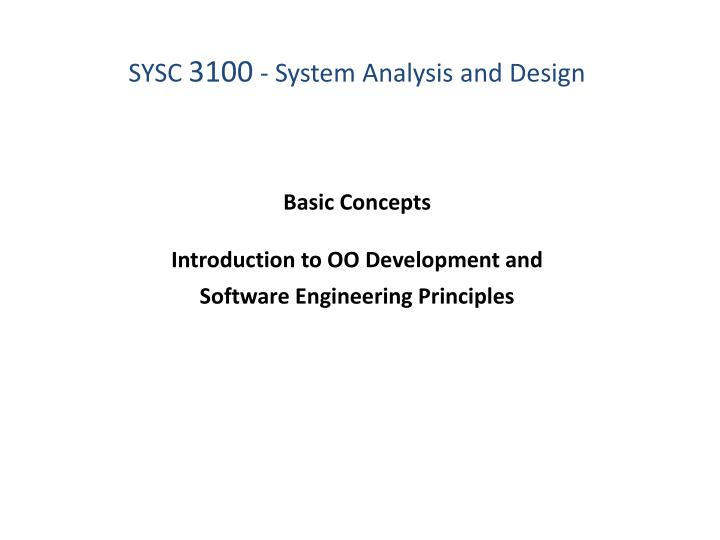 Ppt Basic Concepts Introduction To Oo Development And Software Engineering Principles Powerpoint Presentation Id 1542116