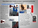 how does your media product represent particular social groups1