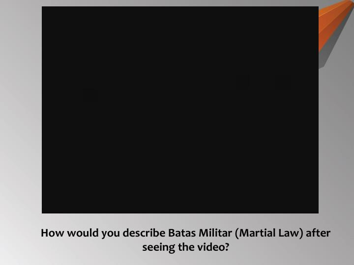 Batas militar | injustice | politics.