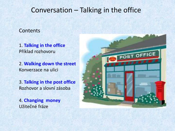 Conversation talking in the office1