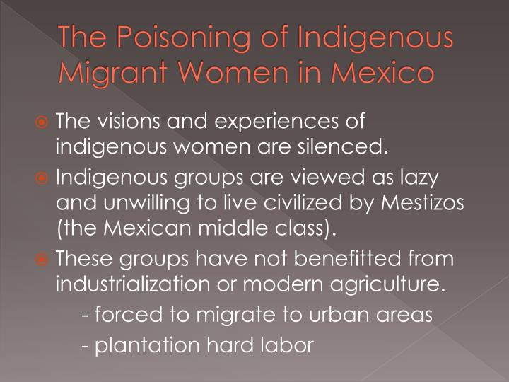 The Poisoning of Indigenous Migrant Women in Mexico