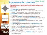 expressions de transition