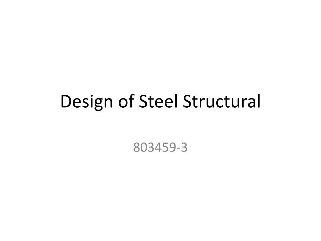 design of steel structural n.