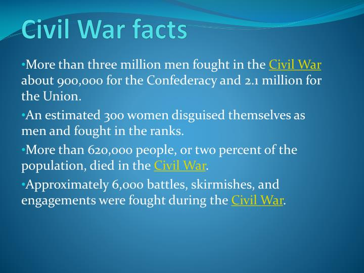 civil war facts n.