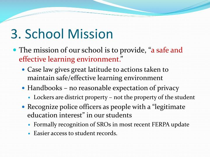 3. School Mission