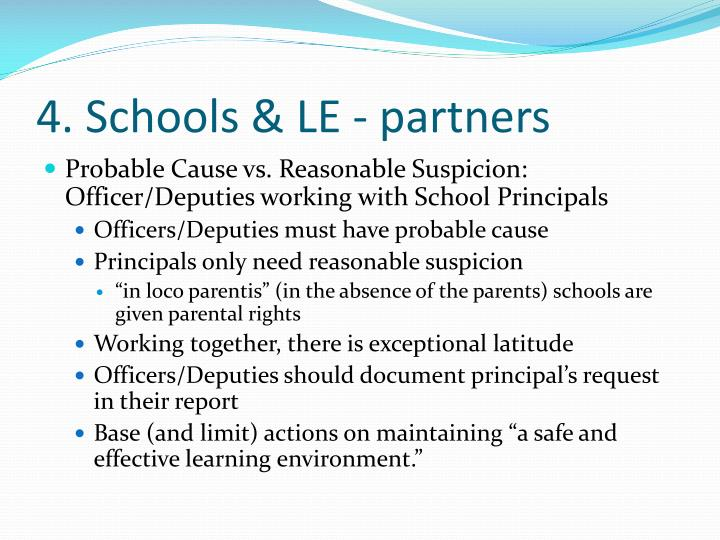 4. Schools & LE - partners