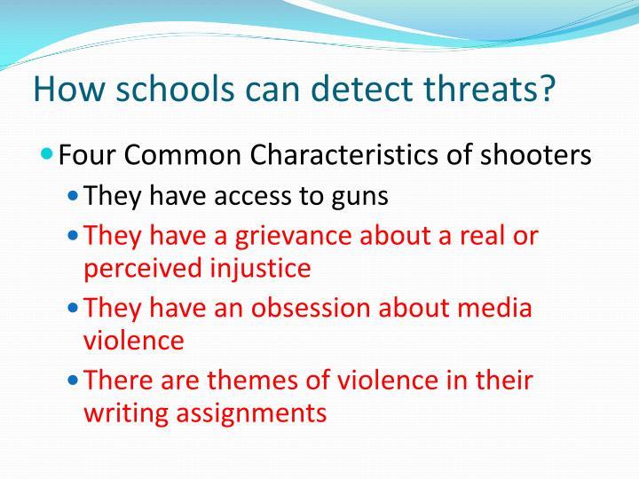 How schools can detect threats?