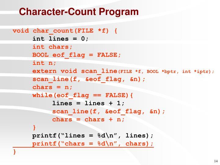 Character-Count Program