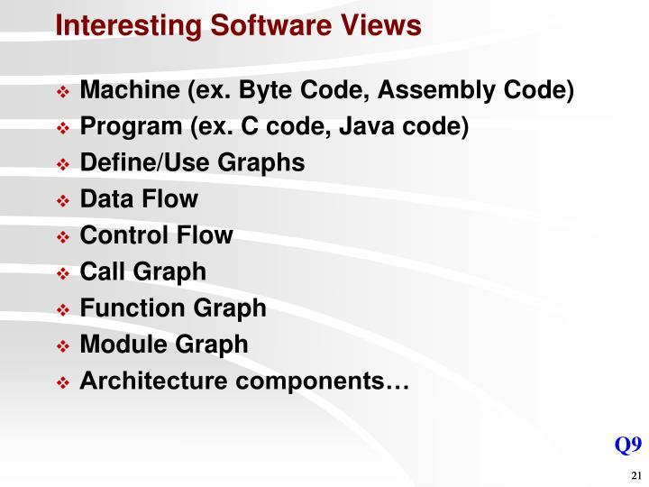 Interesting Software Views