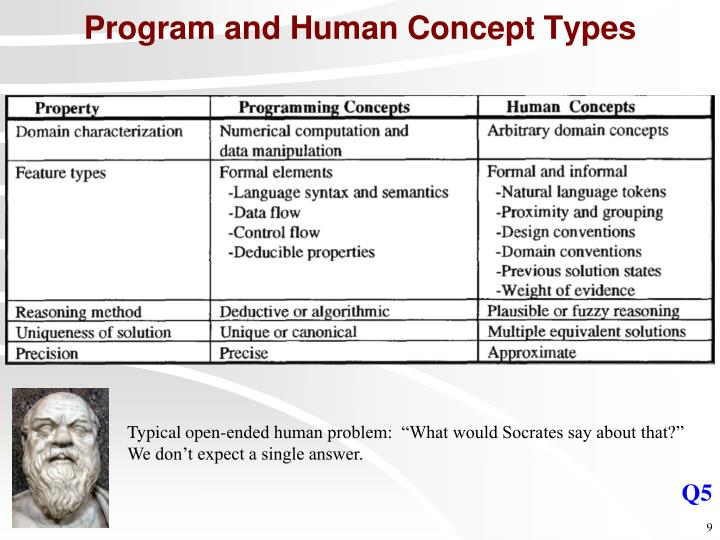 Program and Human Concept Types
