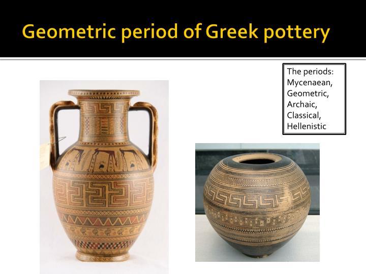 Geometric period of Greek pottery