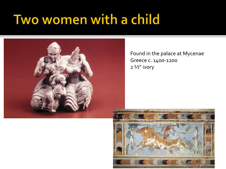 Two women with a child