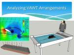 analyzing vawt arrangements