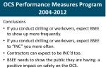 ocs performance measures program 2004 20124