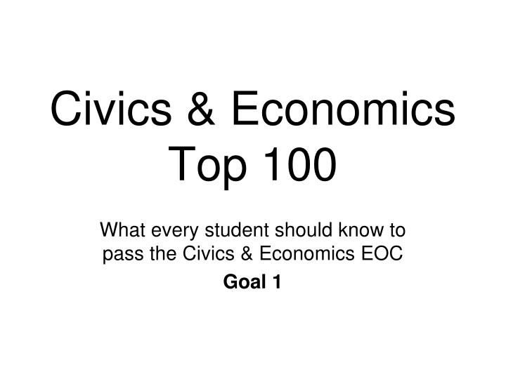 civics economics top 100 n.