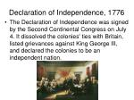 declaration of independence 1776