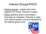 interest groups pacs