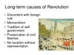 long term causes of revolution