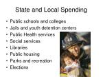 state and local spending