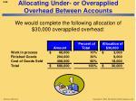 allocating under or overapplied overhead between accounts1
