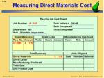 measuring direct materials cost1