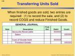 transferring units sold1