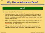 why use an allocation base1