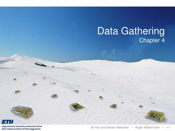 Data gathering chapter 4