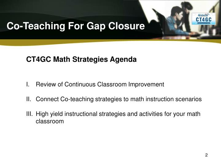 Ppt Co Teaching For Gap Closure Powerpoint Presentation Id1542755