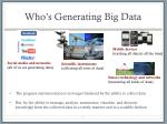 who s generating big data