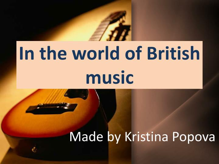 in the world of british music n.