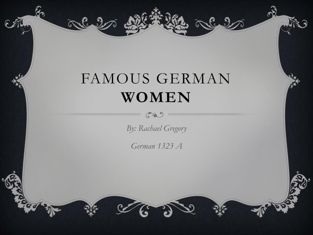 famous german women