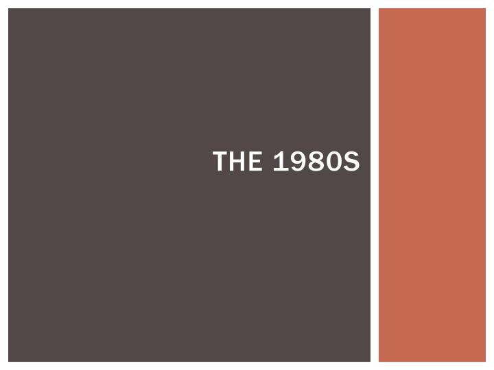 the 1980s n.