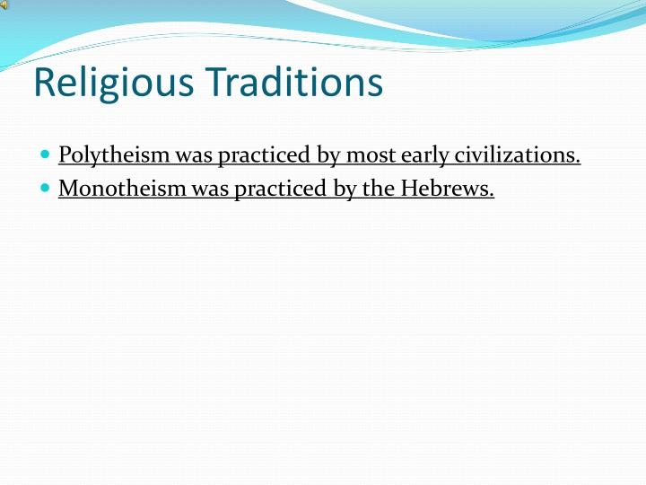 Religious Traditions